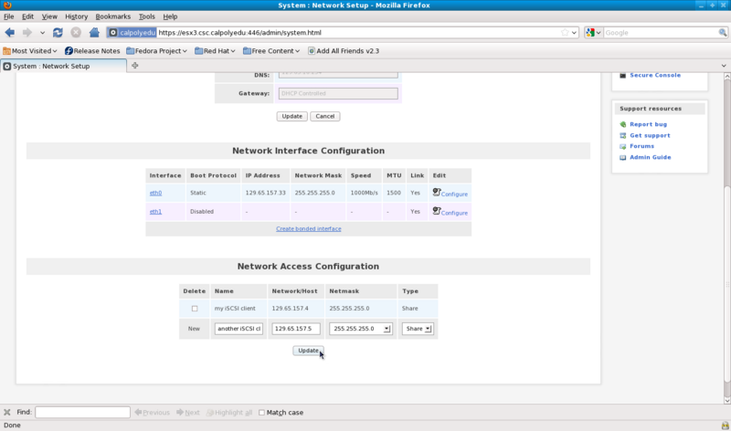 Network Access Configuration
