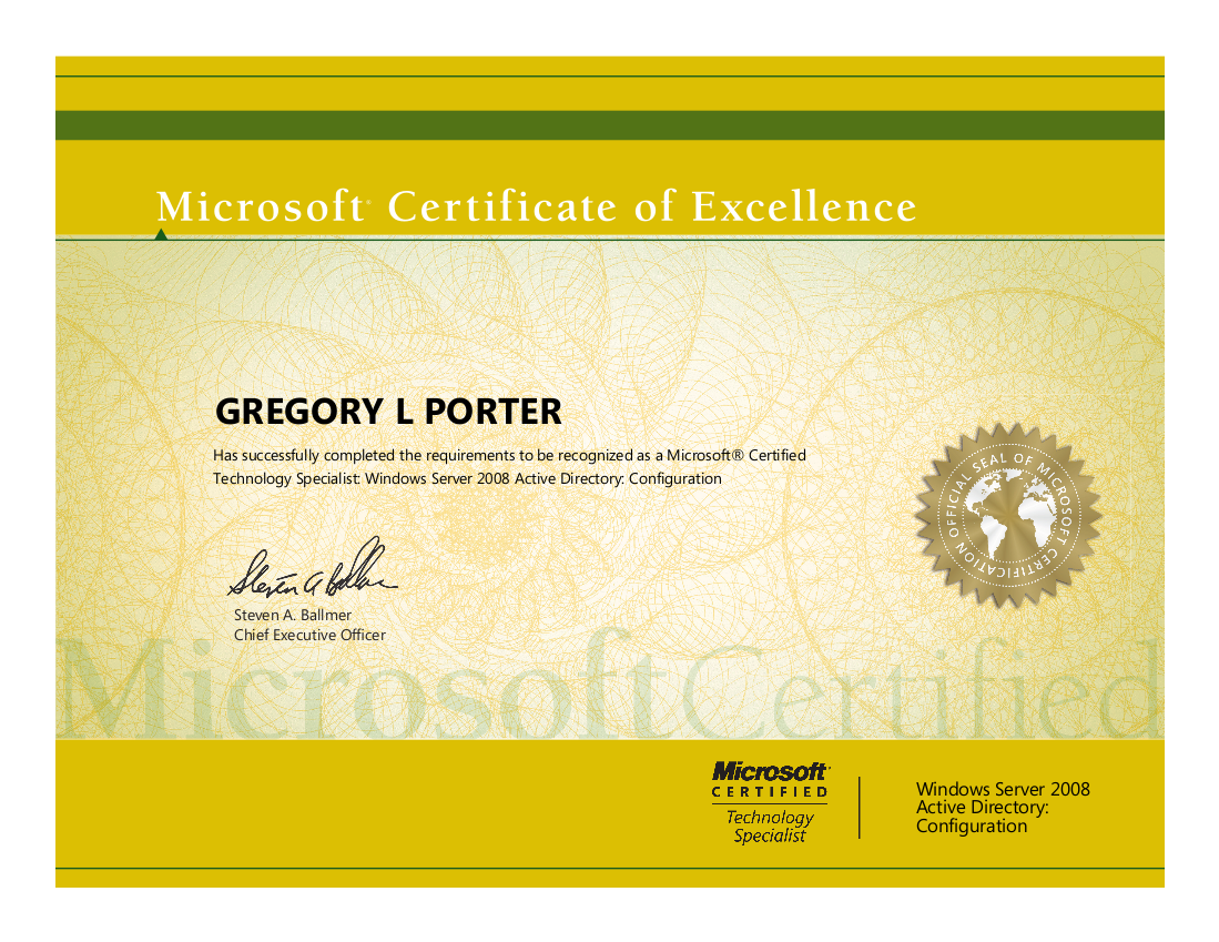 Mcitpea passed the microsoft 070 640 windows server 2008 active this test is long longer than any other microsoft test i have taken it has twice as many questions i took the test in bakersfield 1betcityfo Images