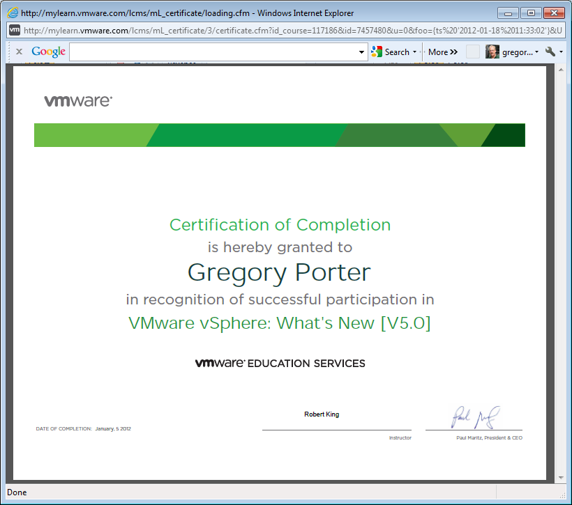 Vmware Online Training Greg Porters Blog